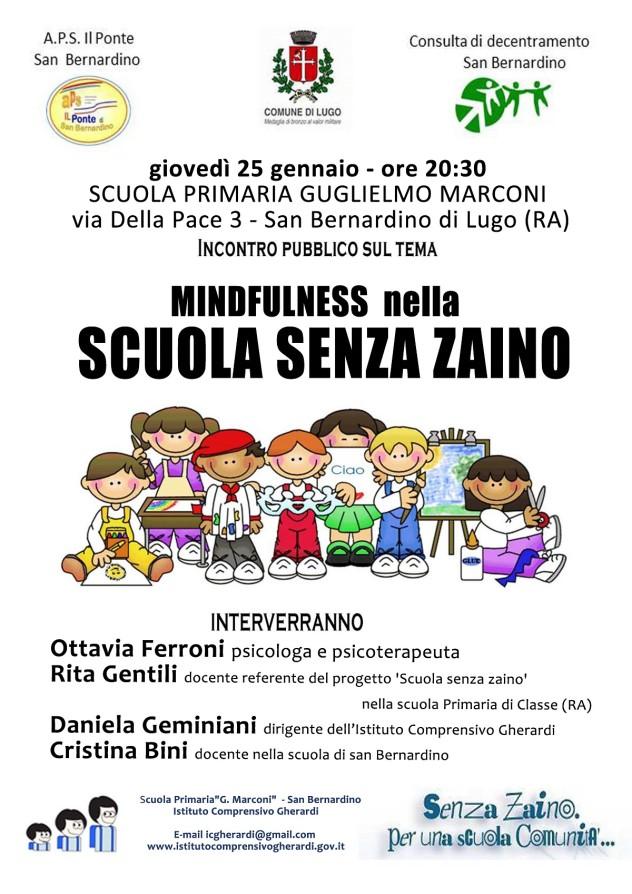 Scuola senza zaino - 25 gennaio 2018